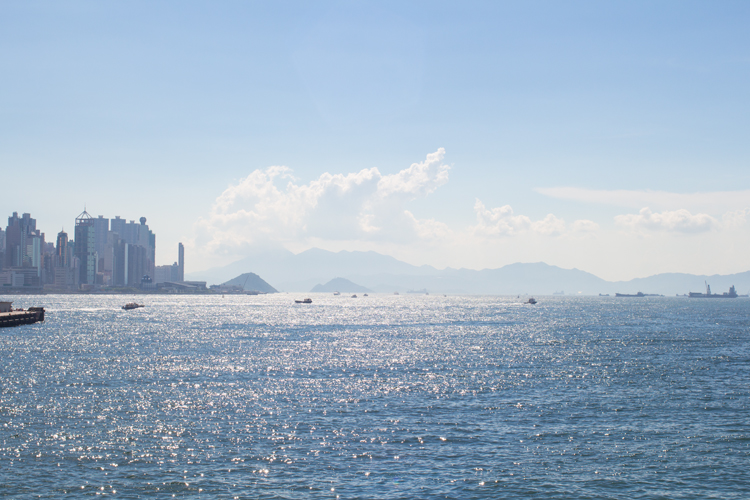Hong Kong View from Tsim Sha Tsui Star Ferry Harbour Sea view