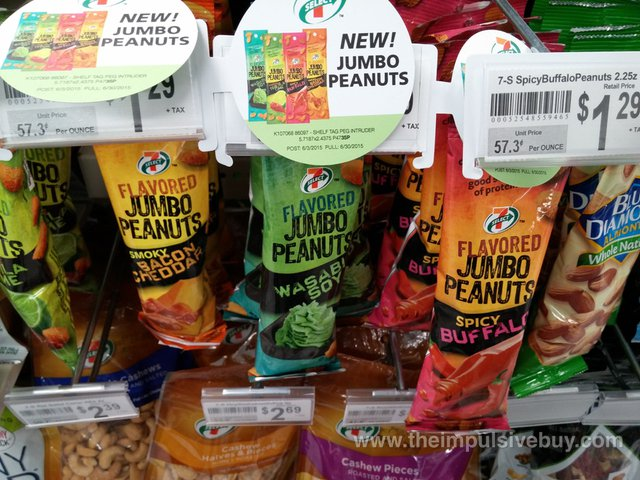 7-Select Jumbo Peanuts (Tequila Lime, Bacon Cheddar, Wasabi Soy, and Spicy Buffalo)