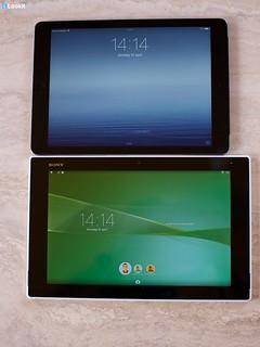 Sony Xperia Z2 vs iPad Air - Switchen tussen gebruikers zit standaard ingebakken bij Android. Standaard he Apple!