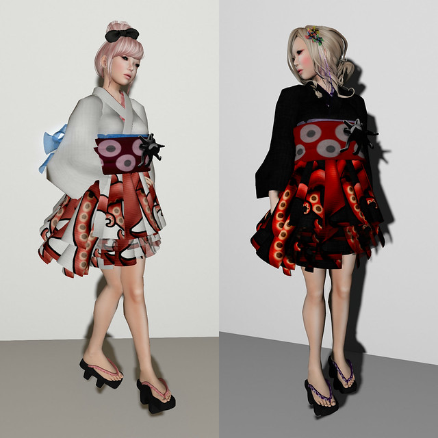 *N*OCTOPUS YUKATA MINI Dress