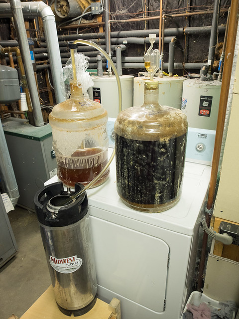 Sour Homebrew Transfer Carboy to Keg
