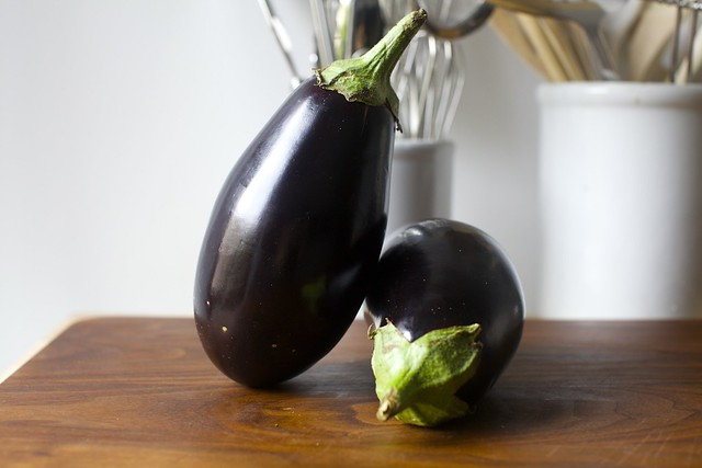 eggplants, getting artsy