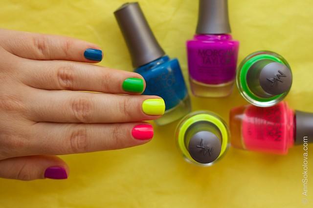 07 Morgan Taylor Neon Lights nails