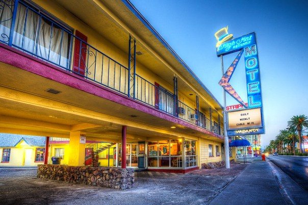 High Hat Motel - 1300 South Las Vegas Boulevard, Las Vegas, Nevada U.S.A. - September 4, 2014