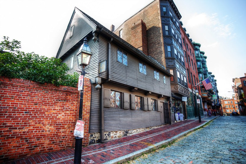 Paul Revere's House, North End, Boston.