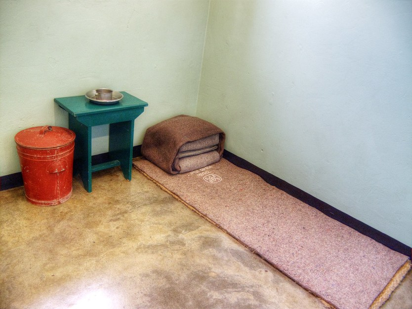 Nelson Mandela's cell on Robben Island.