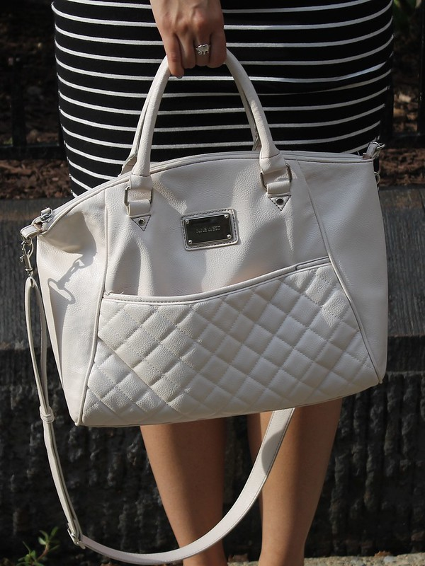 White Quilted Bag for Summer