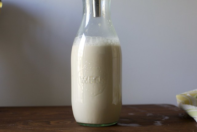 this is toasted hazelnut milk. but we're not stopping here.