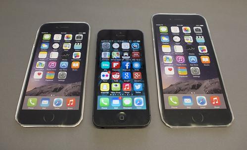 Rough iPhone 5 & 6 size comparison