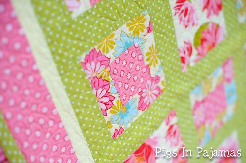 Grandma Flower Quilt Closeup