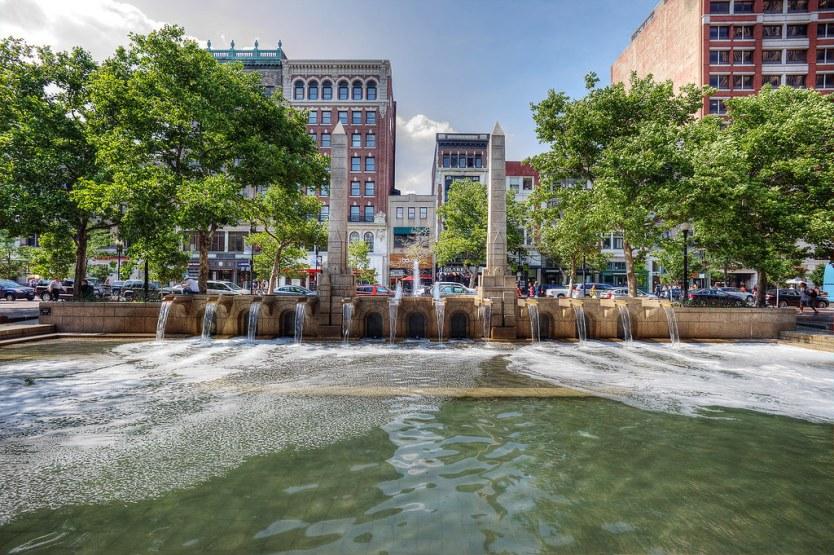 Copley Square Fountain, Boston.