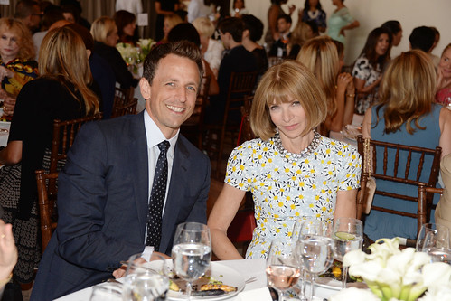 Seth Meyers and Anna Wintour