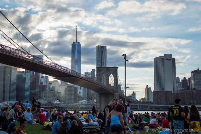Fourth of July Crowd by Brooklyn Bridge