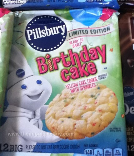 Pillsbury Limited Edition Birthday Cake Yellow Cake Cookie with Sprinkles