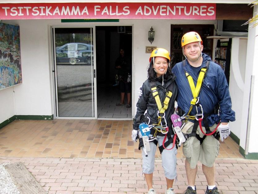 Glinda and Maynard at Tsitsikamma Falls Adventure.