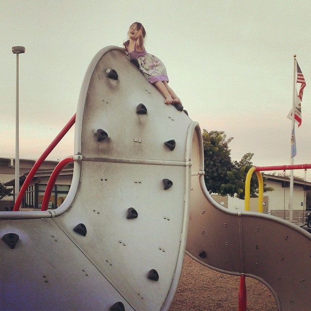 Ain't no mountain high enough... #littleclimber #nofearwhatsoever