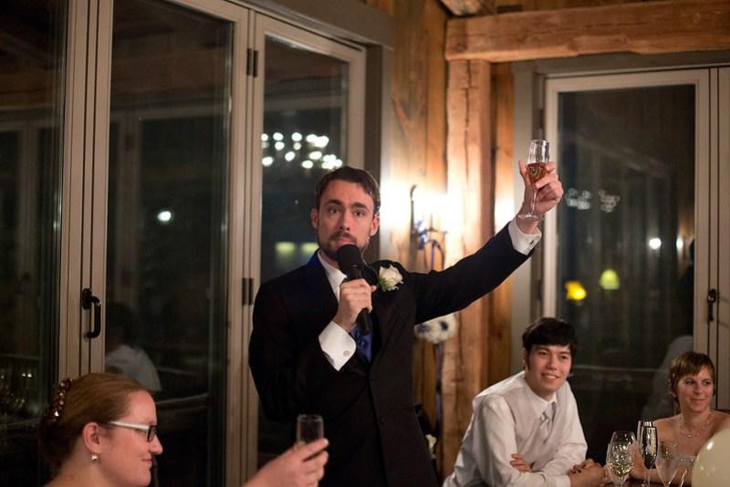 Steve raises a glass