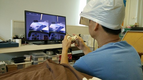เล่นเกม Flight Sim โดยต่อกับ Game controller