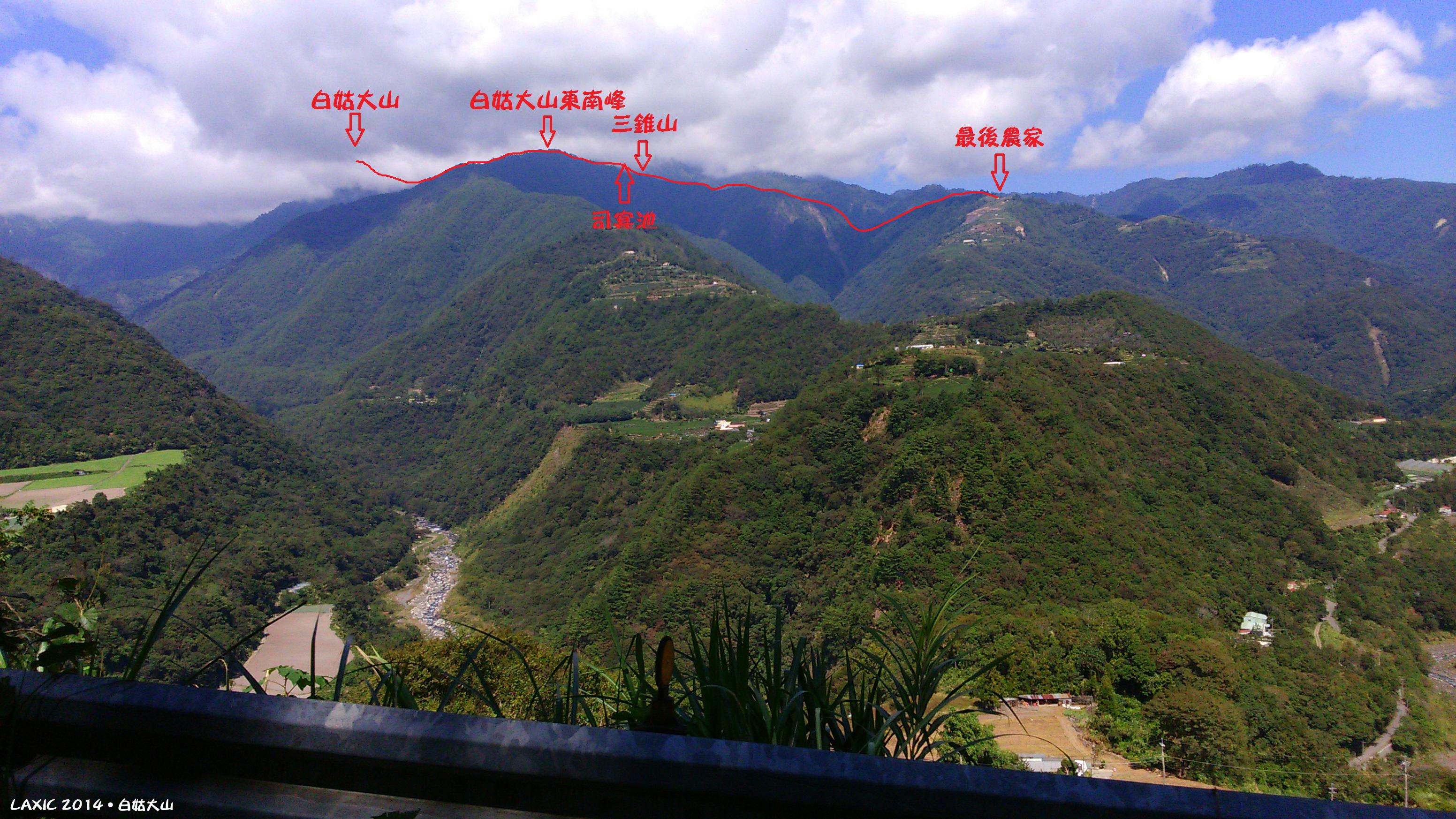 【中央山脈】中橫四辣之太陽下採白姑 - 行程記錄 - 淡淡的山岳天