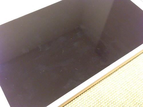 クリスタルアーマー® プレミアム強化ガラス for iPhone 6 Plus (0.15mm ゴリラガラス)_拭き取り前