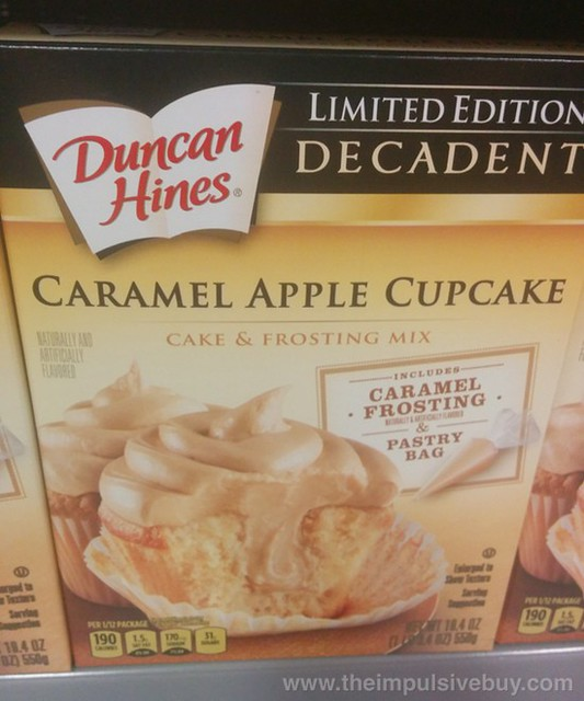Duncan Hines Limited Edition Decadent Caramel Apple Cupcake