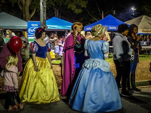 Disney Princesses at Furman Homecoming
