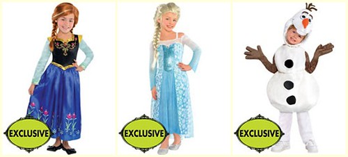 Anna, Elsa, Olaf: Frozen-themed costumes