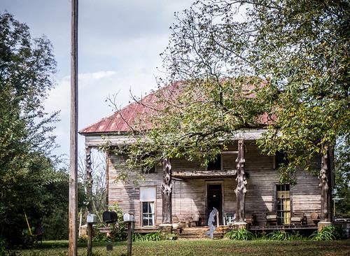 Philomath House with Cedar Columns