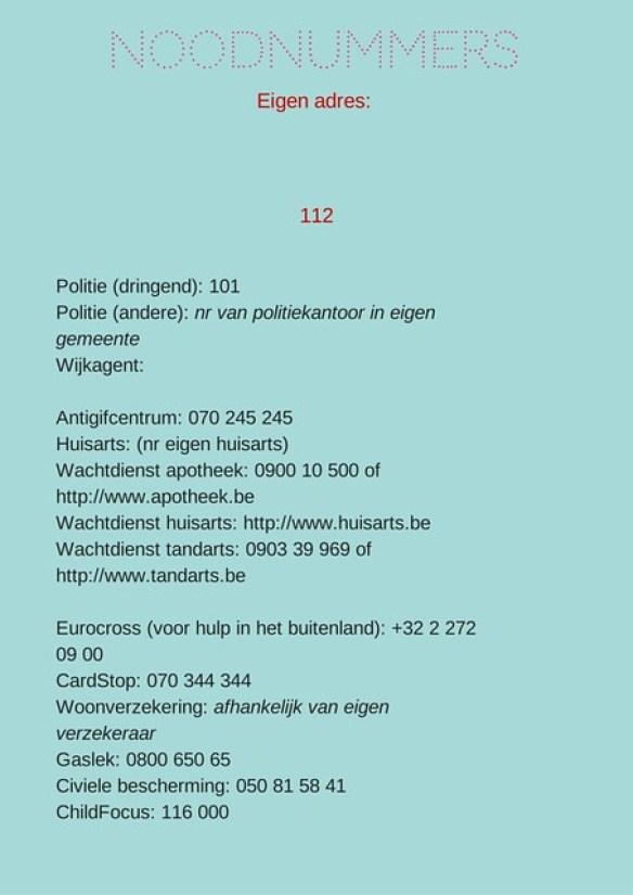 Noodnummers