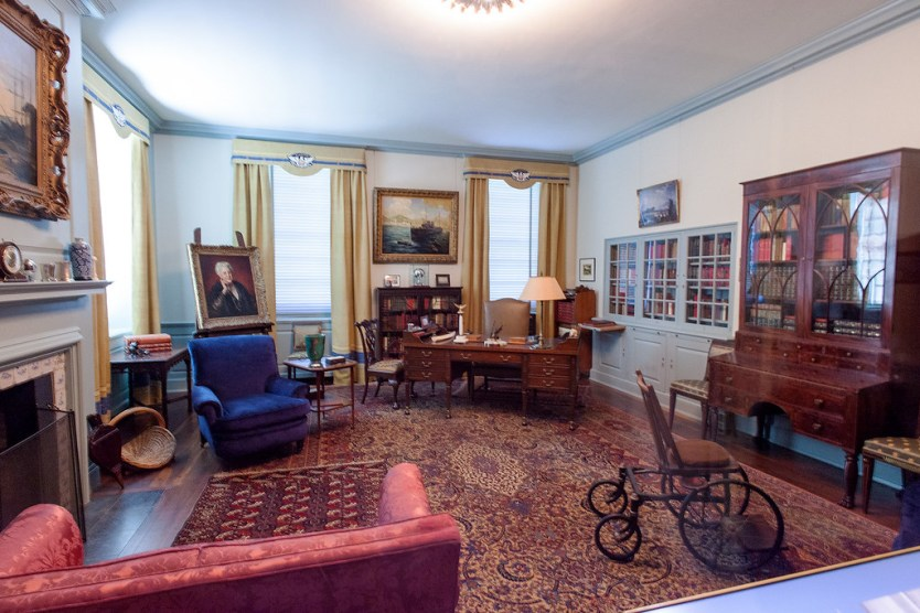 FDR's working office inside his presidential library.