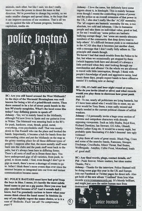 Police Bastard Interview - Bald Cactus #31 - 2014 (3)