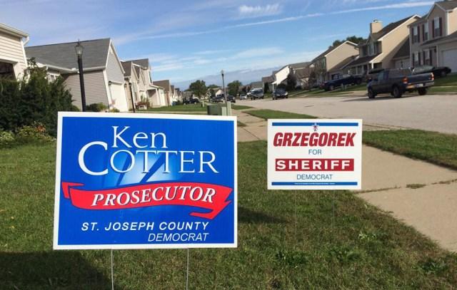 Ken Cotter for Prosecutor Yard Sign