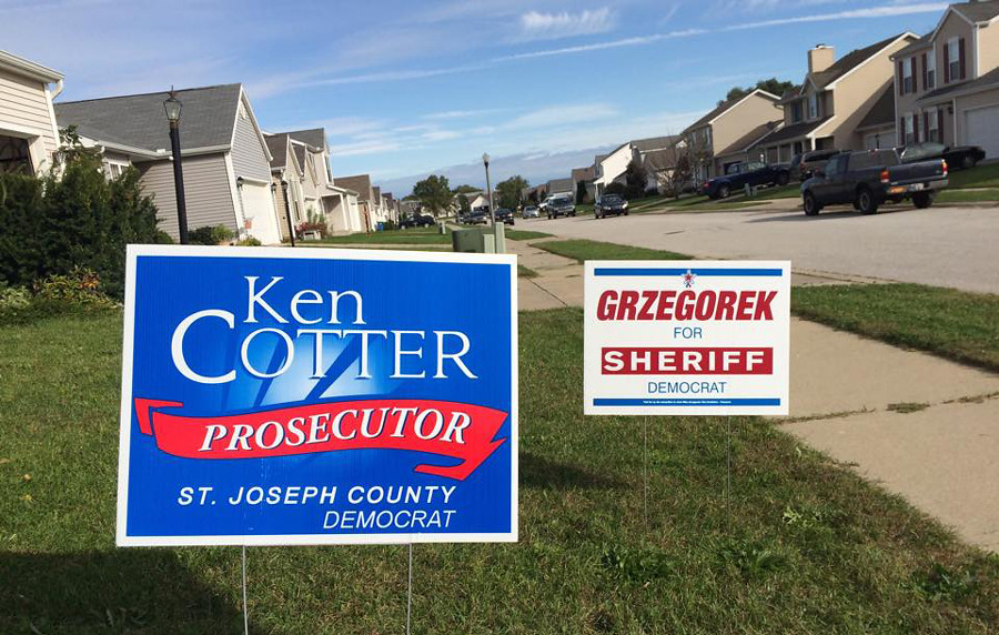 Ken Cotter for Prosecutor Yard Sign