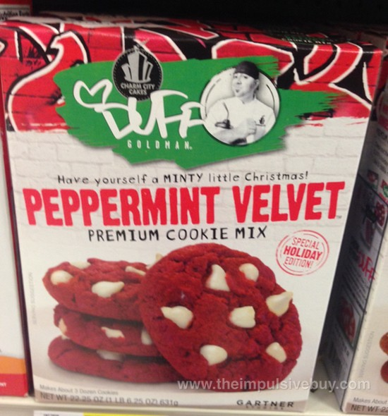 Charm City Cakes Duff Goldman Peppermint Velvet Premium Cookie Mix.