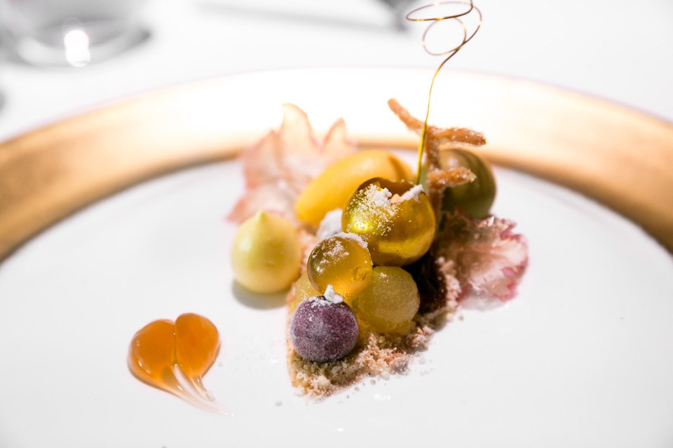 Botrytis Cinerea, grapes at The Fat Duck, Bray, UK