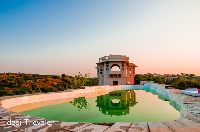 Lakshman Sagar Pool Sunset reflection