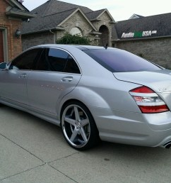 2008 mercedes benz s 65 amg on 22 azad a008 silver face chrome lip [ 1024 x 768 Pixel ]