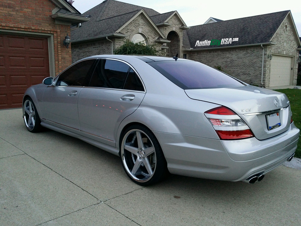 hight resolution of 2008 mercedes benz s 65 amg on 22 azad a008 silver face chrome lip