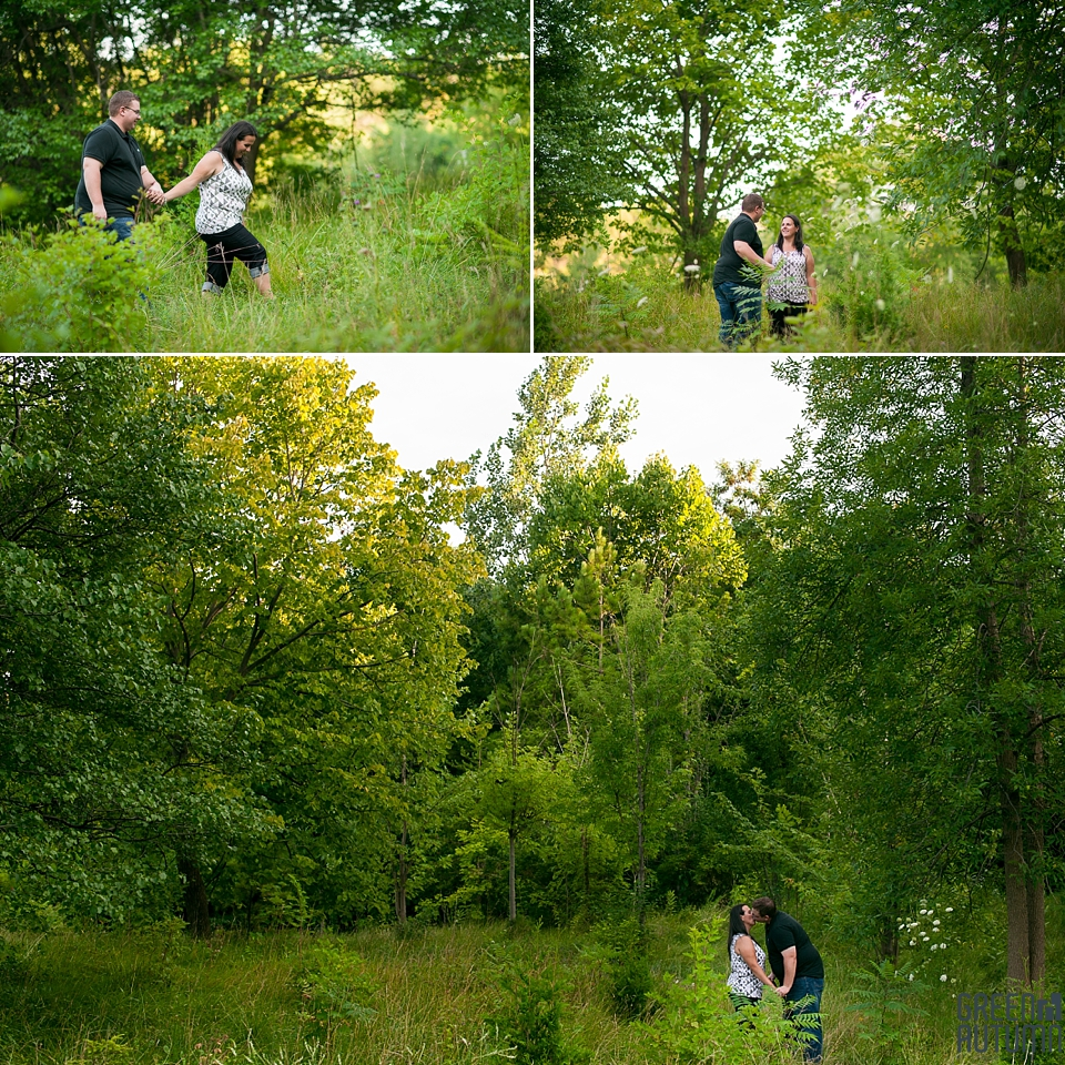 Topham Pond Woodland Engagement Photography