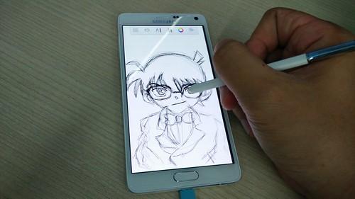 ลองวาดรูปโคนันด้วย Samsung Galaxy Note 4