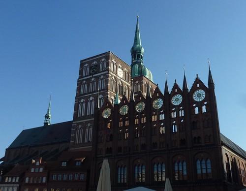 Rathaus og St. Nikolaikirche Stralsund