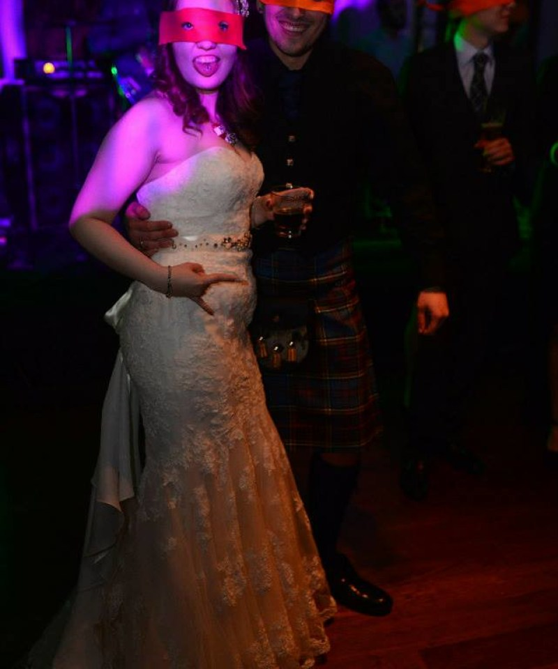 Ninja turtles at this Scottish Harry Potter wedding on @offbeatbride