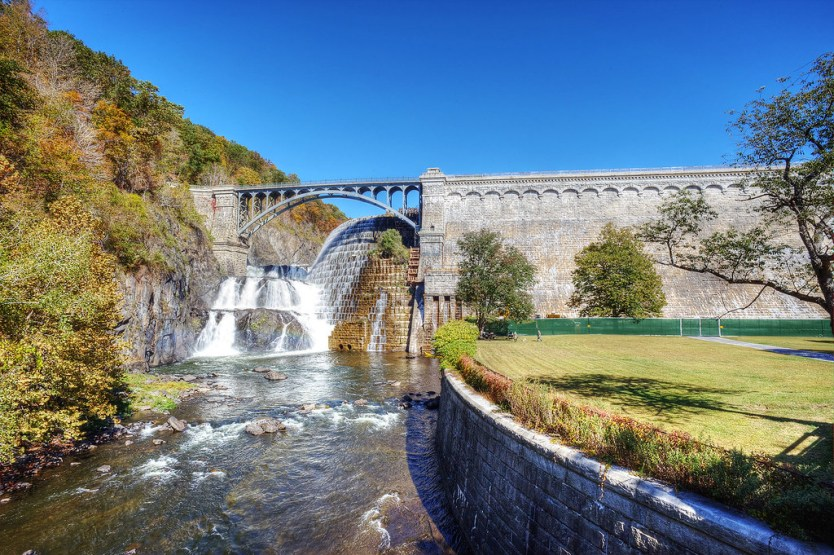 A section of the Croton Dam, NY.