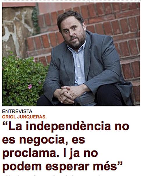 14j26 EPunt Junqueras La independencia no se negocia Se proclama