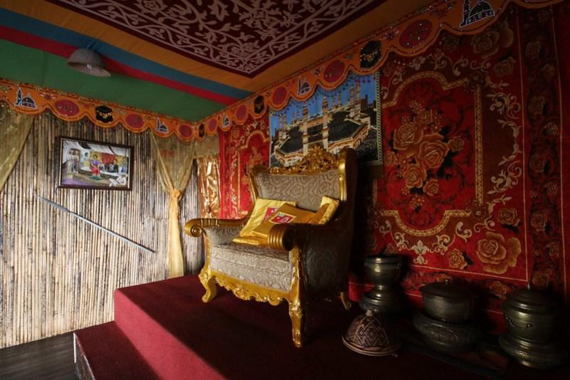 Interior of Astana Replica, Talipao, Sulu