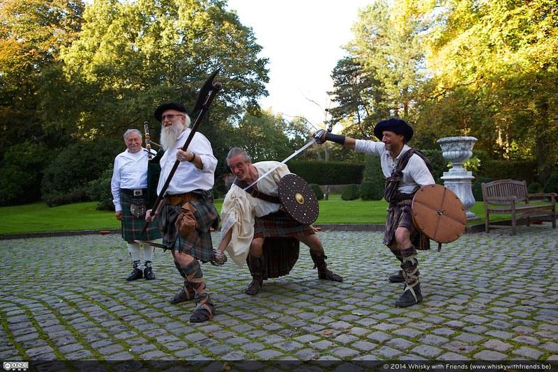 Demonstratie van het Keltisch zwaardvechten
