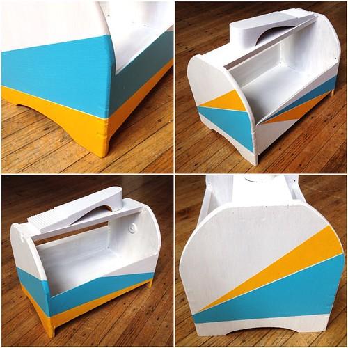 Upcycled shoeshine box