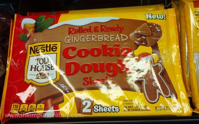 Nestle Toll House Rolled & Ready Gingerbread Cookie Dough Sheets
