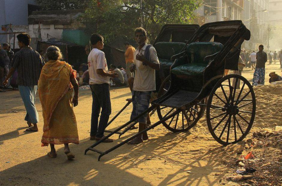 hand pulled rickshaws are quintessentially kolkata