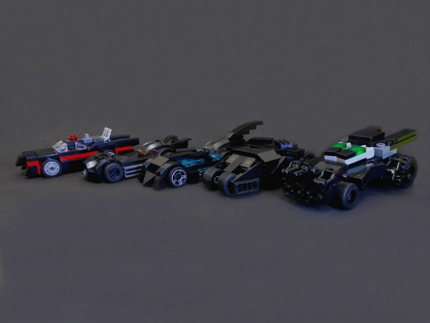 Batmobiles. lining up. mini size